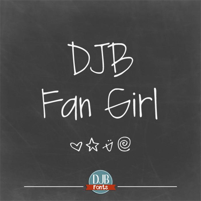 DJB Fan Girl Font poster