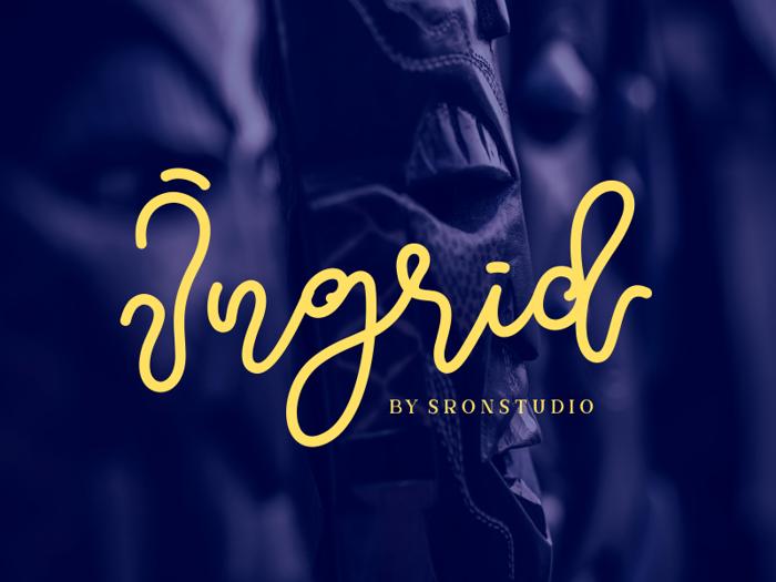 Ingrid Font poster