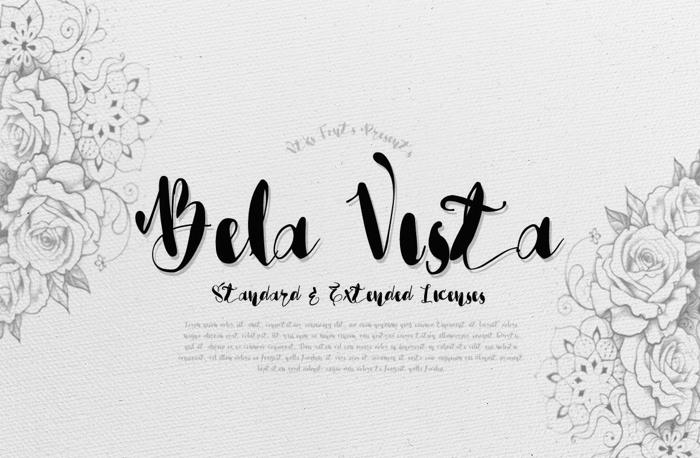 Vtks Bela Vista Font poster