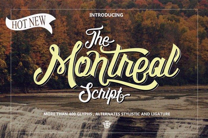 Montreal Script Font poster