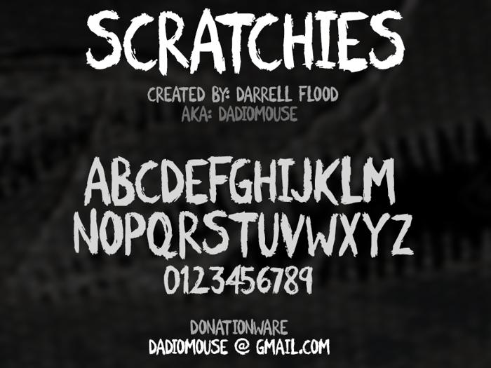 Scratchies Font poster