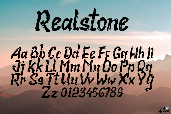 Realstone Font poster