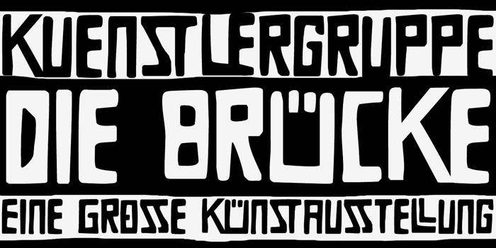DK Die Bruecke Font poster