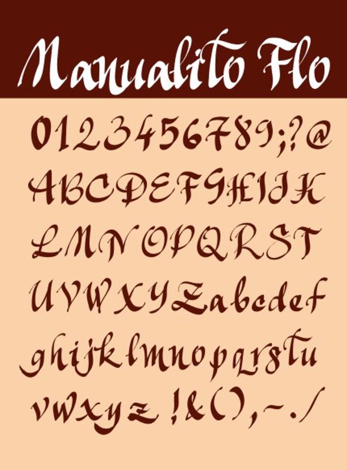Manualito-Flo Font poster