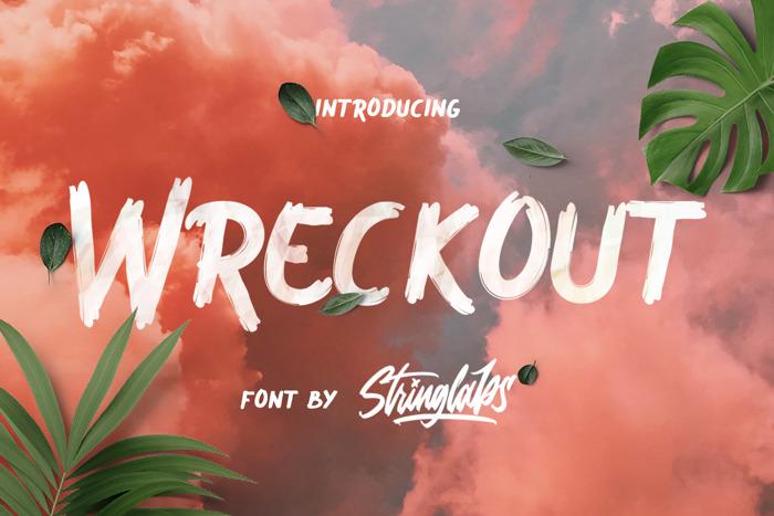 Wreckout Font poster