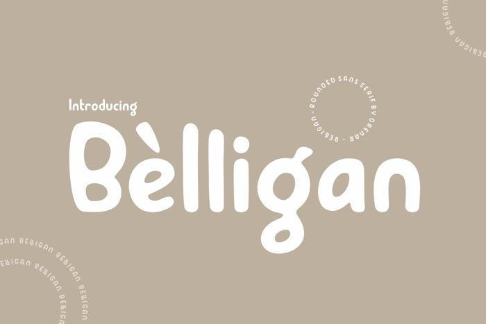 Belligan Font poster