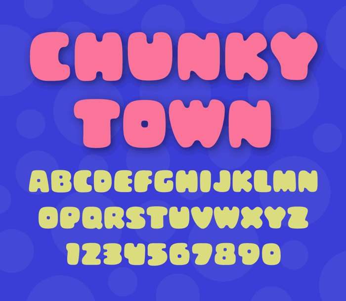 Chunky Town Demo Font poster