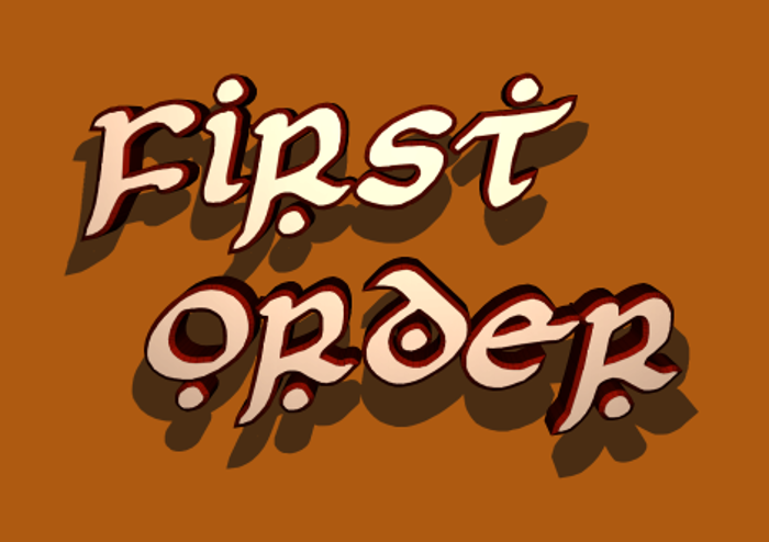 First Order Font poster