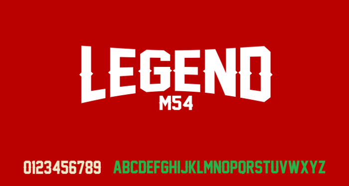 Legend M54 poster