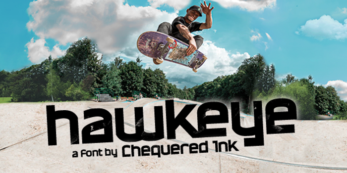 Hawkeye Font poster