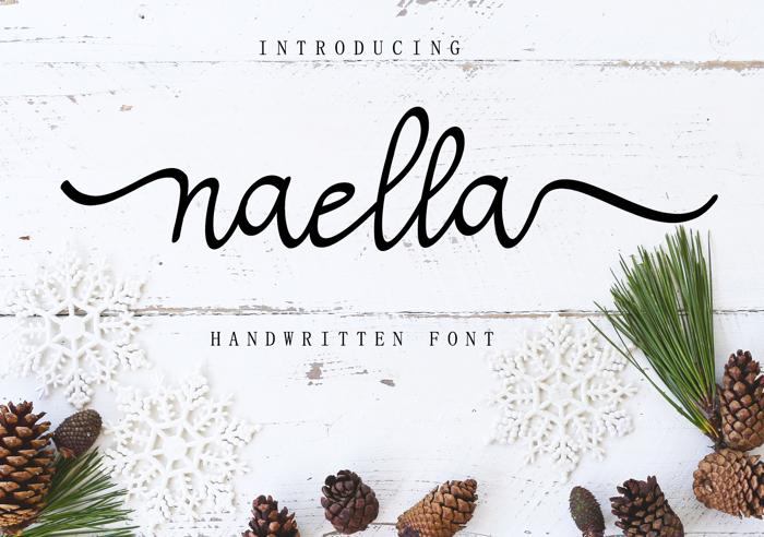 Naella Handwritten Font poster