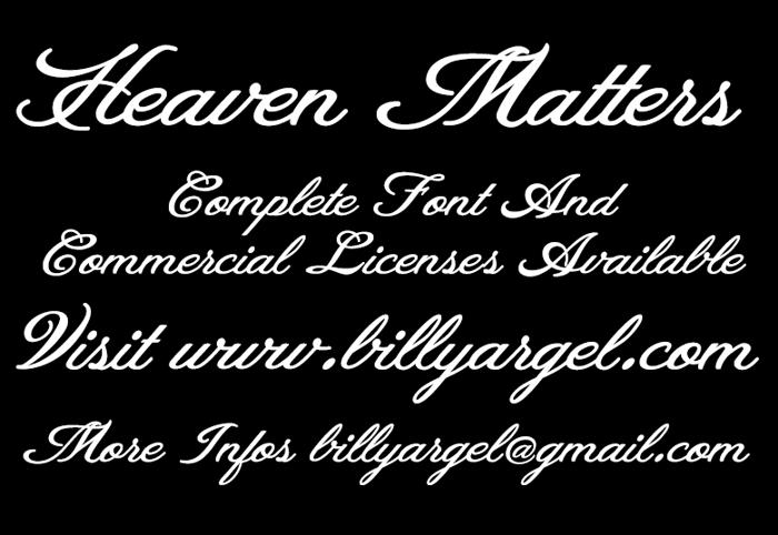 Heaven Matters Font poster