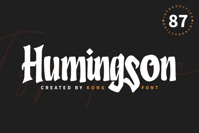 Humingson Font poster