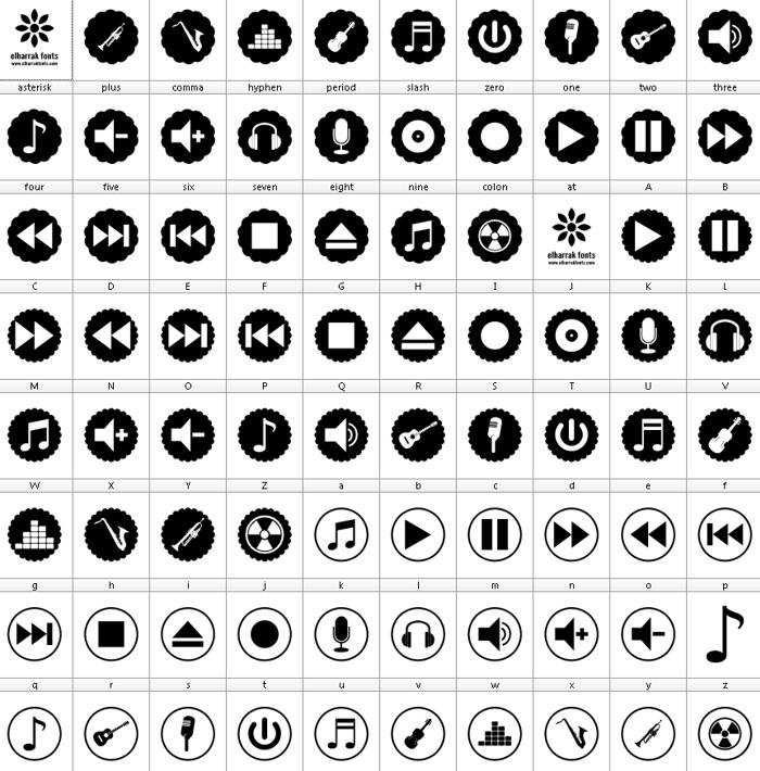 font bottons music pro poster