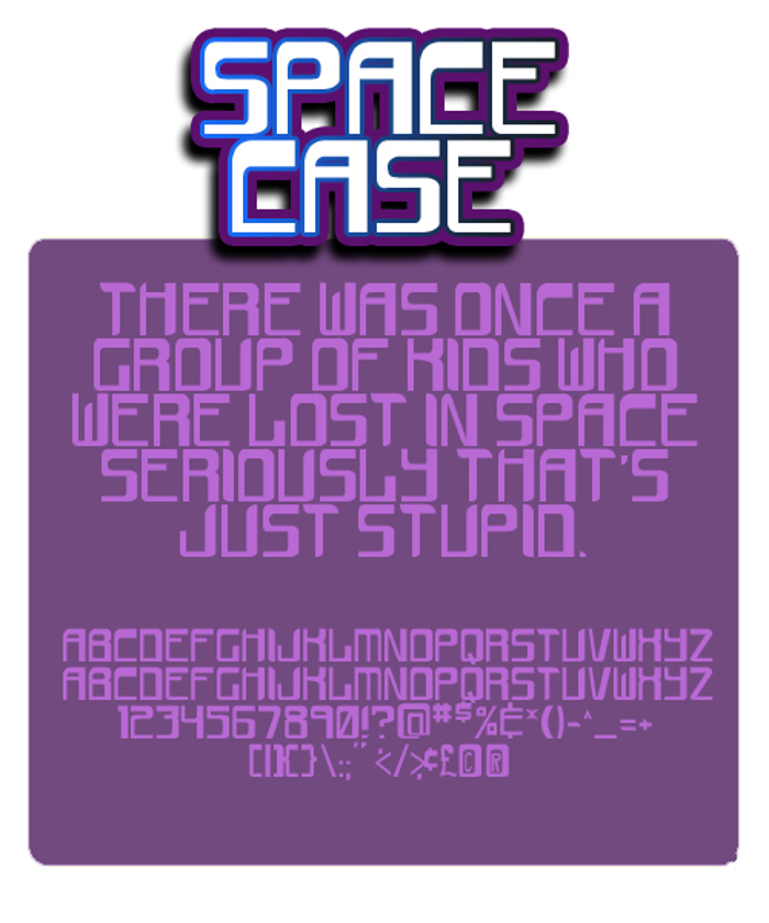 space case Font poster