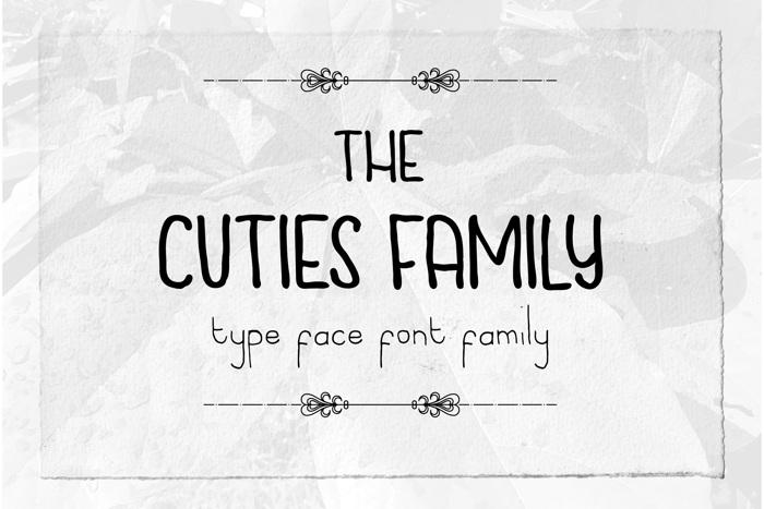 Cuties Caps Font poster