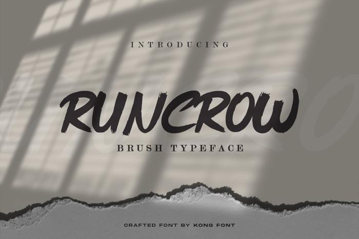 Runcrow Font poster