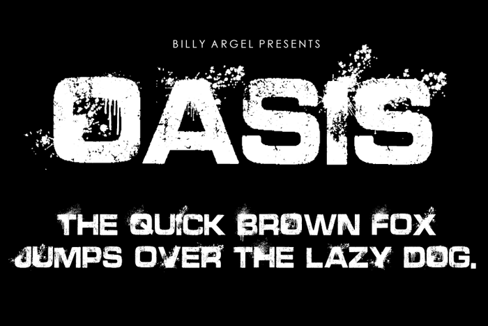 OASIS Font poster