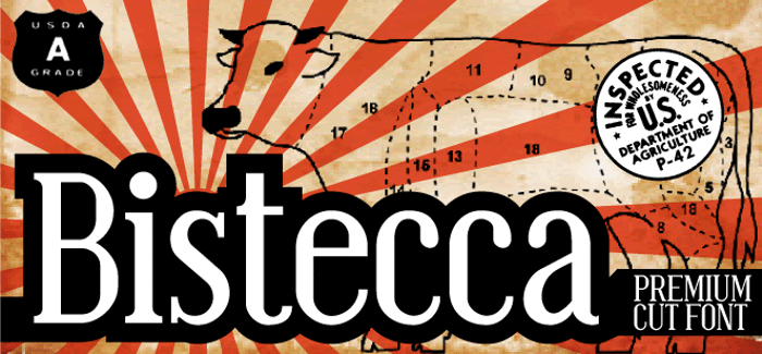 Bistecca Font poster