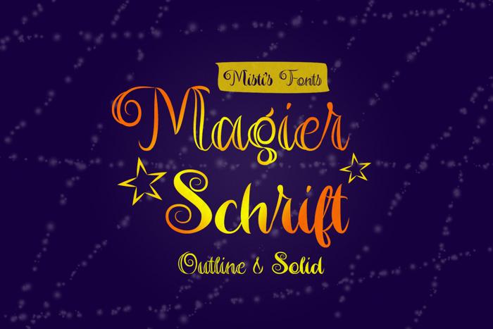 Magier Schrift Font poster