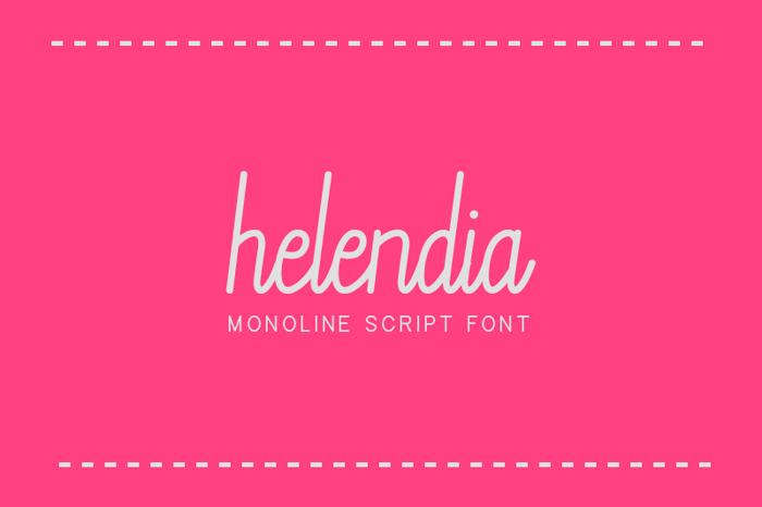Helendia Font poster