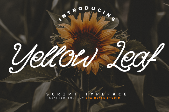 Yellow Leaf Font poster