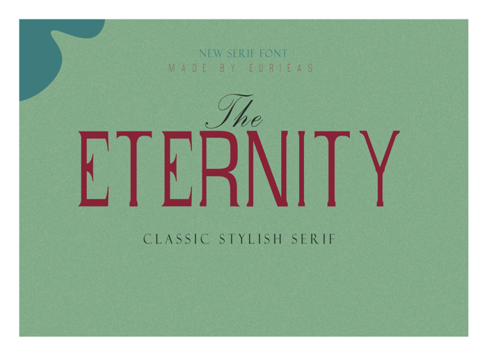 Eternity Time Font poster