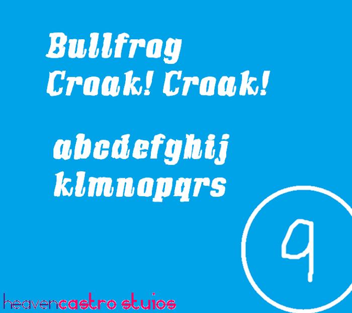 Bullfrog Font poster