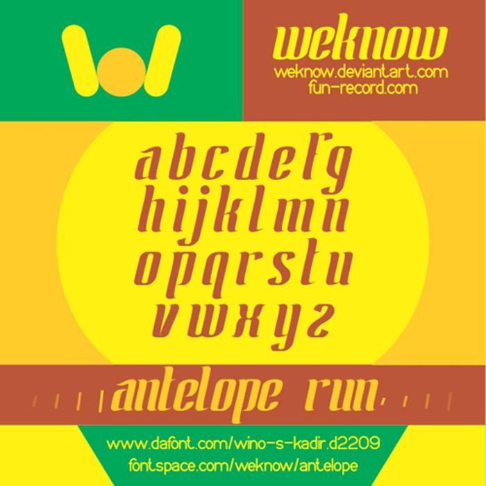 ANTELOPE Font poster