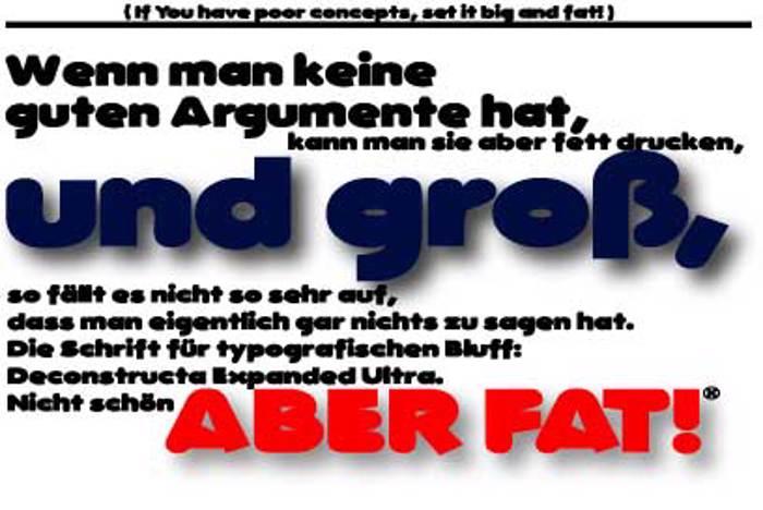 DeconstructaWide Font poster