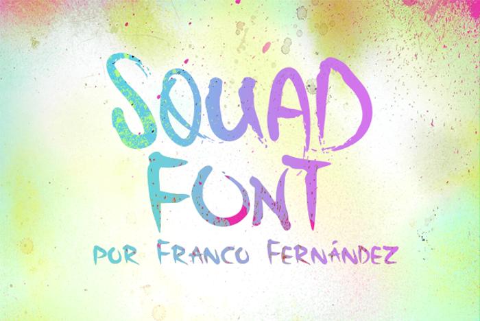 Squad Font poster