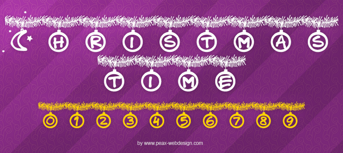 PWChristmastime Font poster