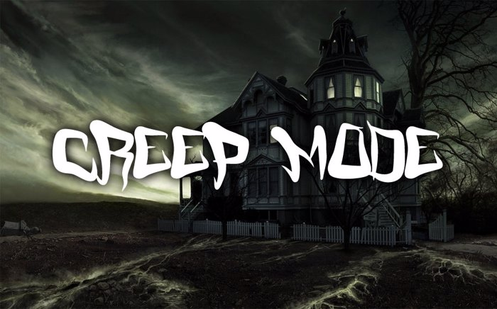FM Creep Mode Font poster