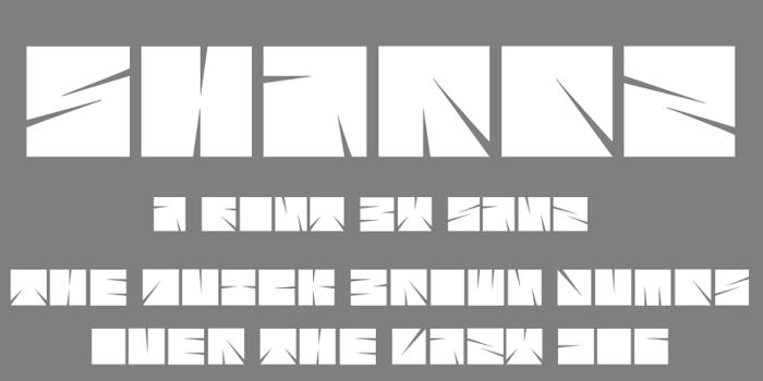 Sharpz Font poster