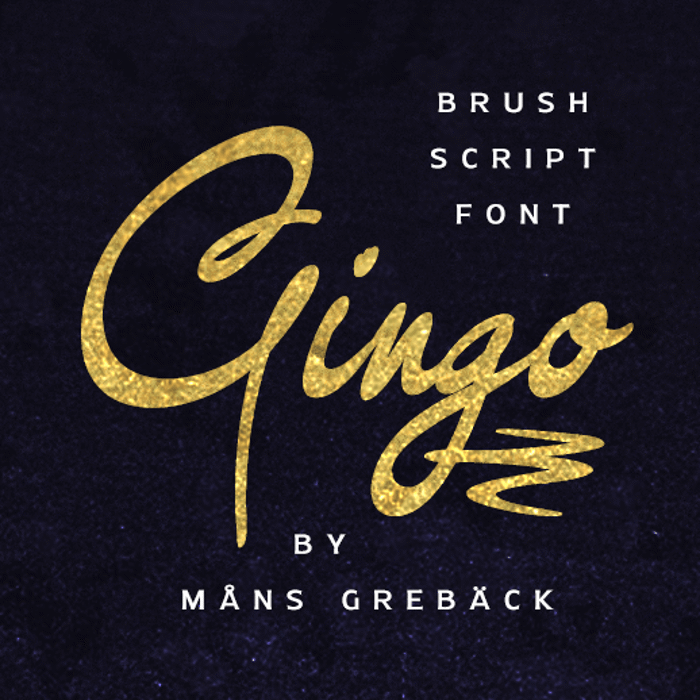 Gingo Font poster