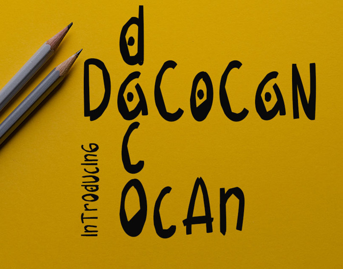 Dacocan Font poster