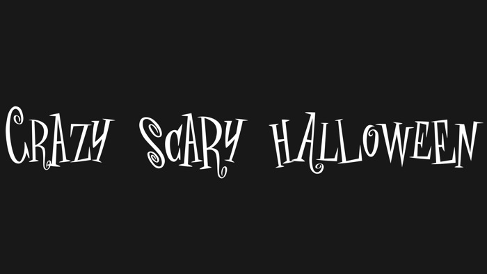 crAZY SCARY halLowEeN Font poster