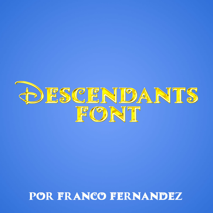 Descendants Font poster