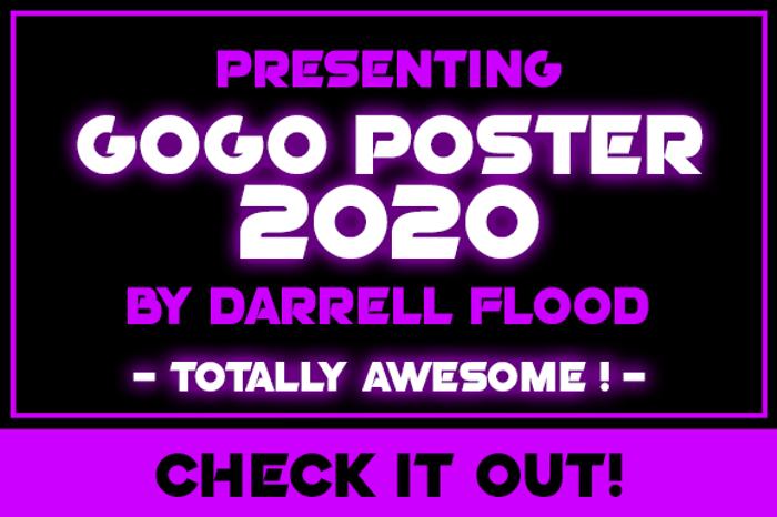 Go Go Poster 2020 Font poster