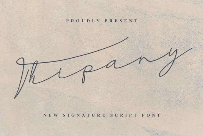 Thipany Font poster