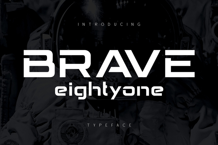 BRAVE Eightyone Font poster