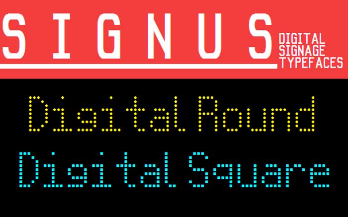 Signus Digital Round NBP Font poster