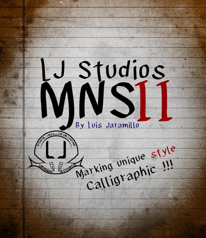 LJ Studios MNS 2 Font poster