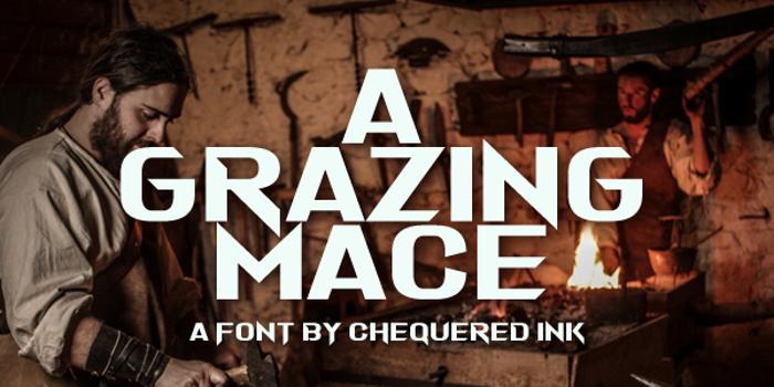 A Grazing Mace Font poster