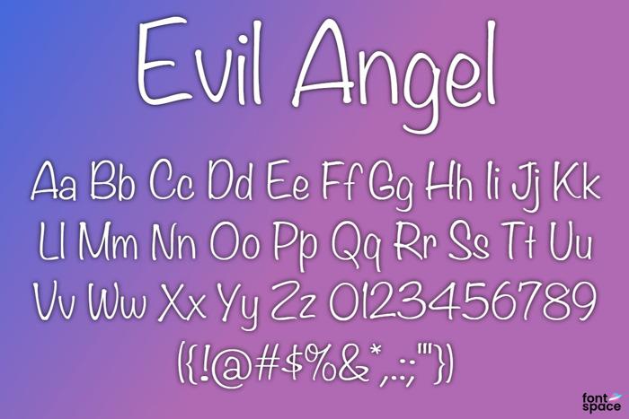 BB Evil Angel Font poster