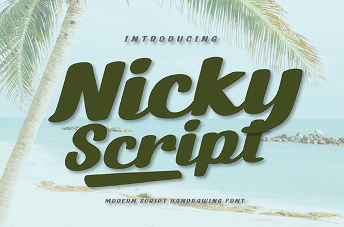 Nicky Script Font poster
