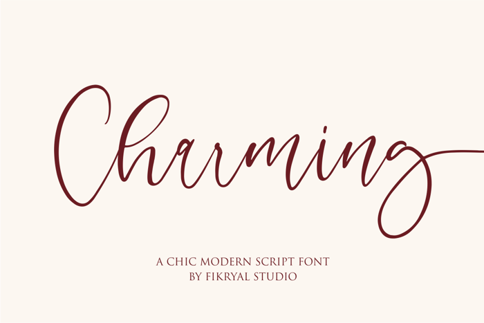 Charming Font poster