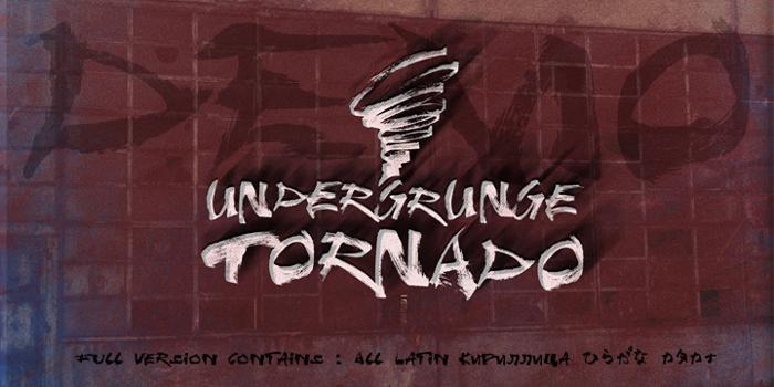 Undergrunge Tornado Demo Font