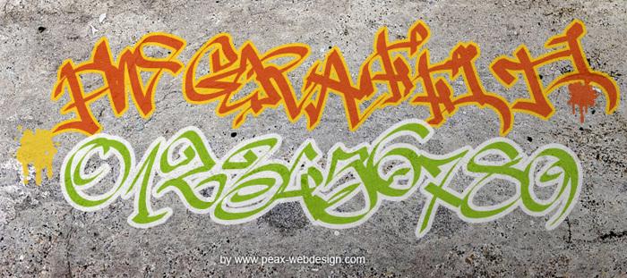 PWGraffiti Font poster