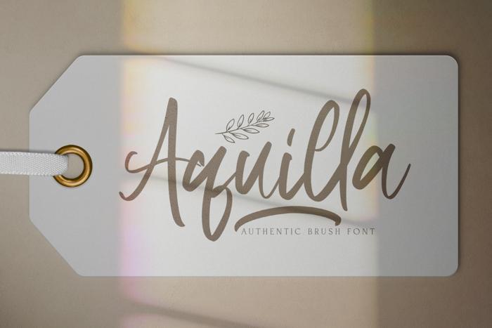 Aquilla Font poster